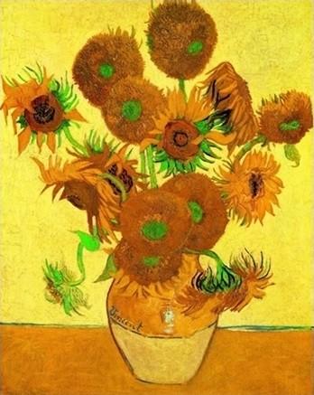 Sunflowers, 1888 Kunsttryk