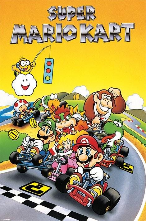 Super Mario Kart - Retro Plakat