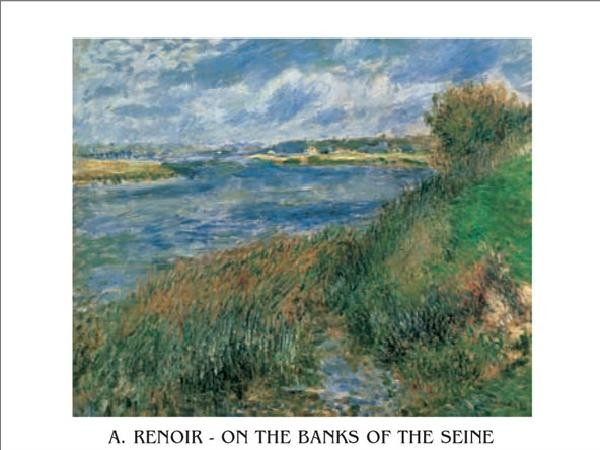The Banks of the Seine at Champrosay, 1876 Kunsttryk