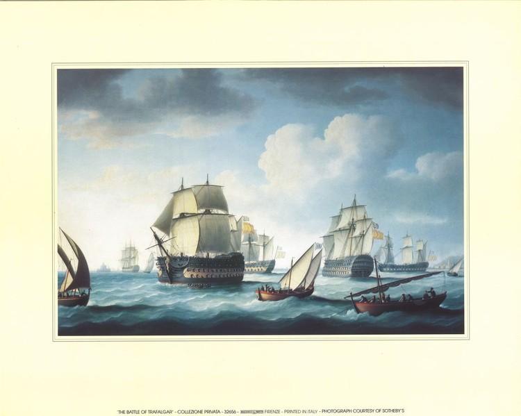 The Battle Of Trafalgar  Kunsttryk