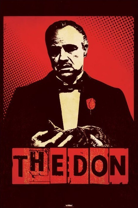 THE GODFATHER - the don Plakat