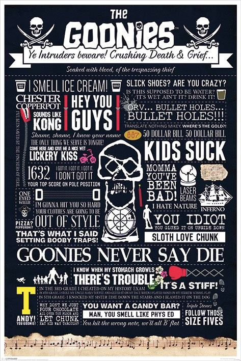 The Goonies - Typographic Plakat