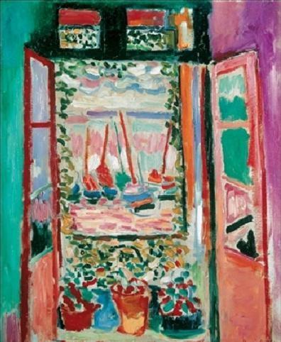 Lige ud The Open Window, Collioure, 1905 Kunsttryk Reproduktion, Billede NY56