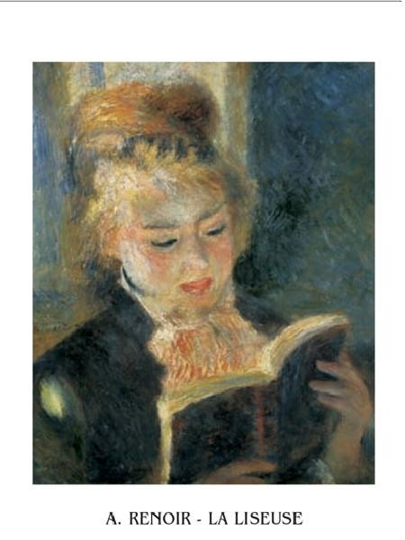 The Reader - Young Woman Reading a Book, 1876 Kunsttryk