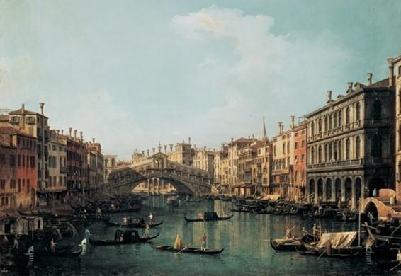 The Rialto Bridge – Ponte di Rialto Kunsttryk