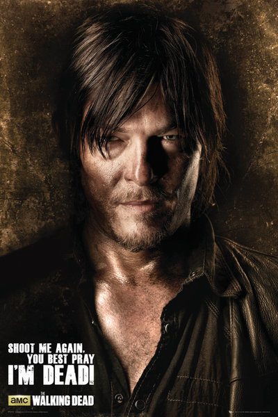 THE WALKING DEAD - Daryl Shadows Plakat