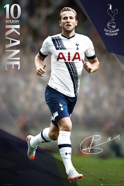 Tottenham Hotspur FC - Kane 15/16 Plakat
