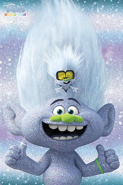 Trolls verdensturné - Guy Diamond and Tiny Plakat