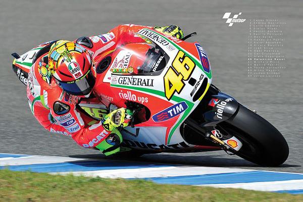 Valentino Rossi- Moto GP Plakat