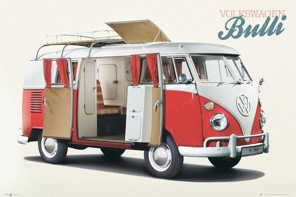 VW Volkswagen Camper - Bulli Plakat