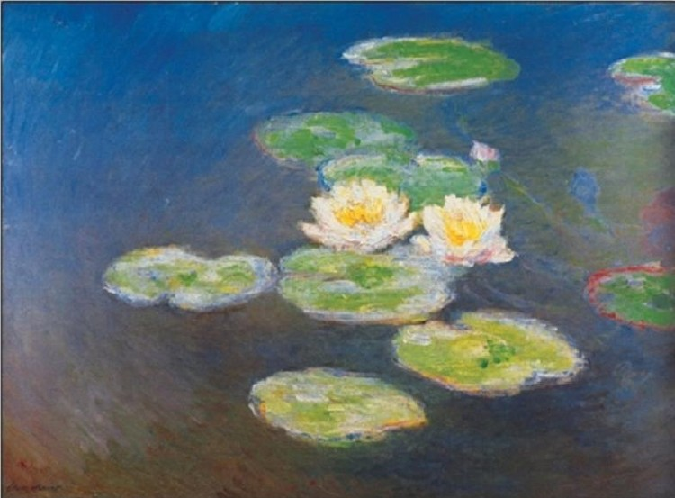 Water Lilies, 1914-1917 Kunsttryk