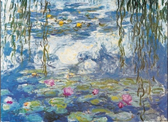 Water Lilies, 1916-1919 Kunsttryk
