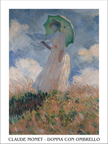 Woman with a Parasol Kunsttryk