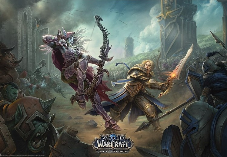 World of Warcraaft - Battle For Azeroth Plakat