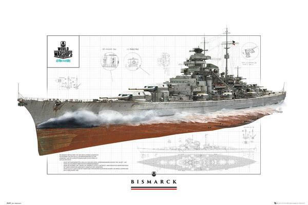 World Of Warships - Bismark Plakat