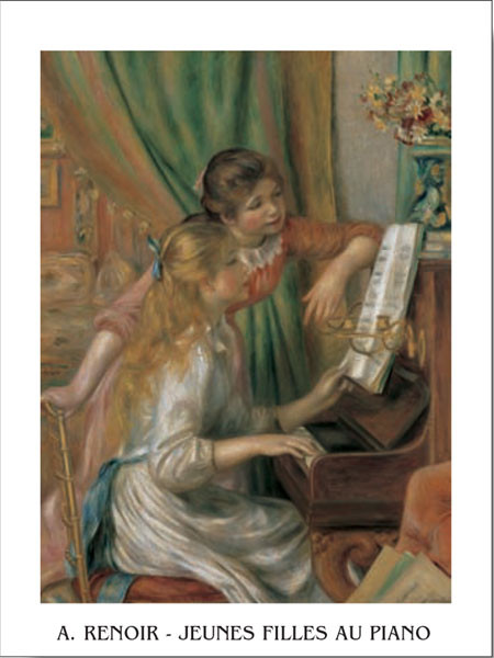 Young Girls at the Piano, 1892 Kunsttryk