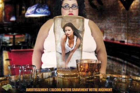 Alcohol warning - france Plakat