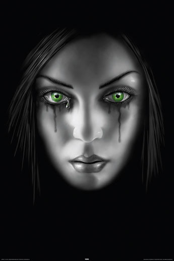 ANNE STOKES - sad face Poster