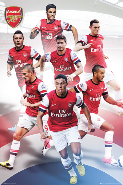 Arsenal - players 12/13 Poster