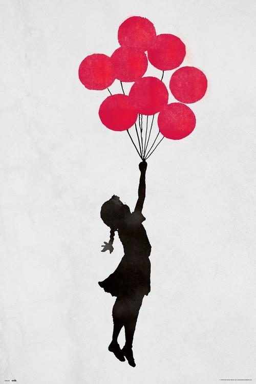 Banksy - Floating Girl Poster