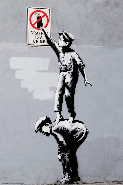 Banksy - Grafitti Is A Crime Poster