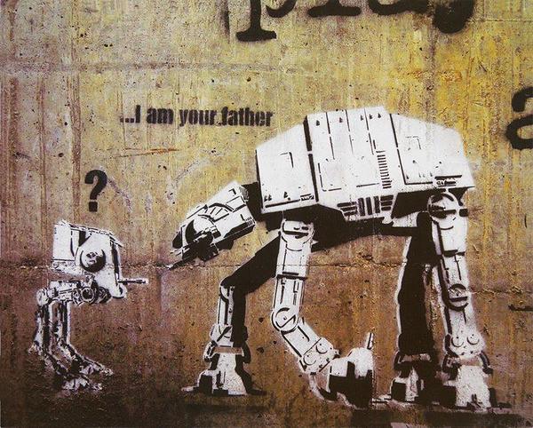 Skulpture i umjetničke slike - Page 4 Banksy-i-m-your-father-star-wars-i23598