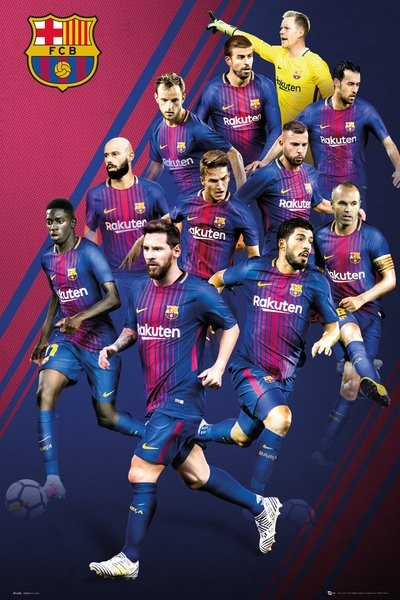 Barcelona - Players 17-18 Poster