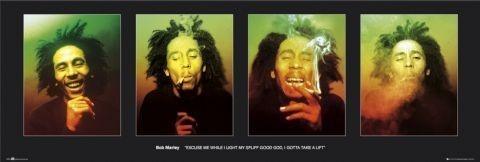 Bob Marley - faces Plakat