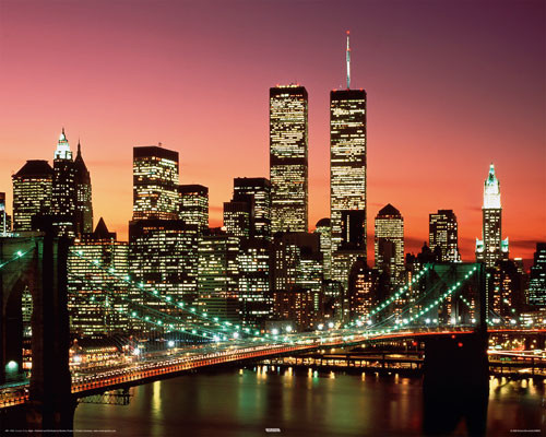 Brooklyn bridge - night Poster