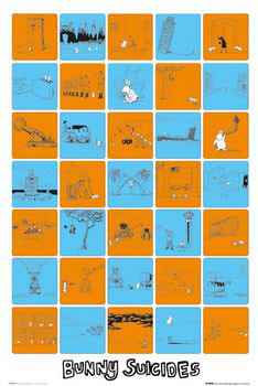 Bunny suicides Poster