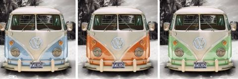 Californian Camper - triptych  Poster