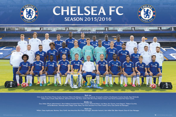 Chelsea FC - Team Photo 15/16 Poster