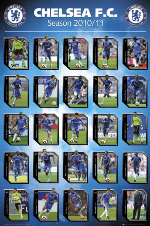 Chelsea - squad profiles 2010/2011 Poster