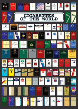 Cigarette of the world Plakat