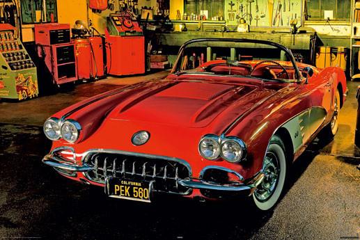 Classic car - 1958 chevrolet Plakat