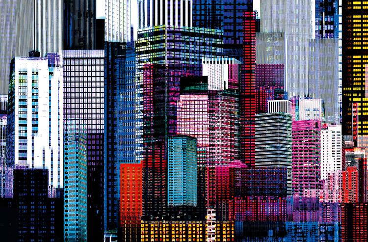 COLOURFUL SKYSCRAPERS Plakat