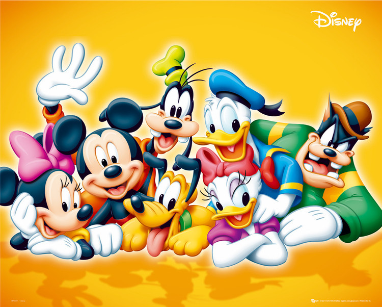 DISNEY - characters Poster