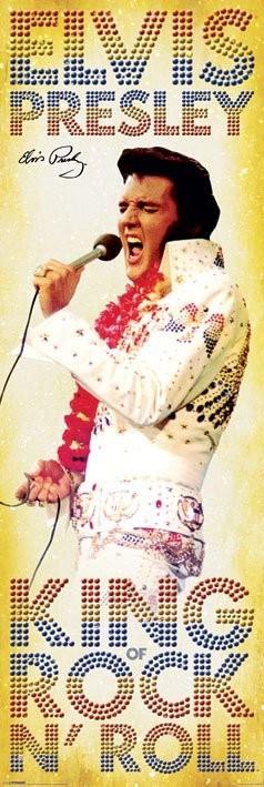 Elvis Presley - king of Rock Plakat