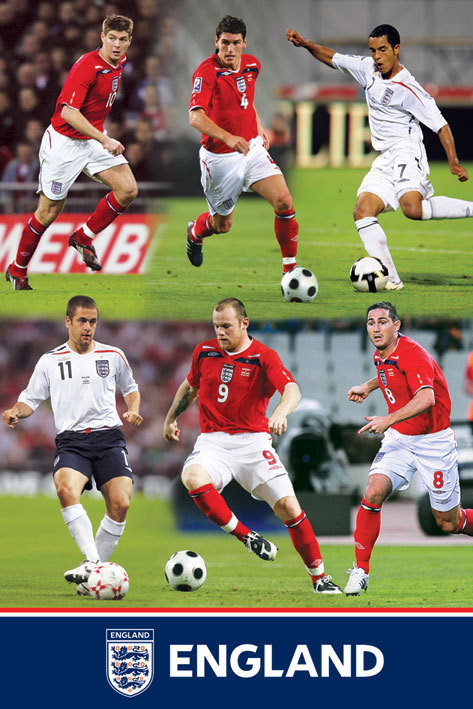 England F.A - montage Plakat