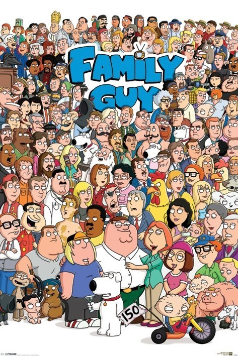 FAMILY GUY - characters Poster