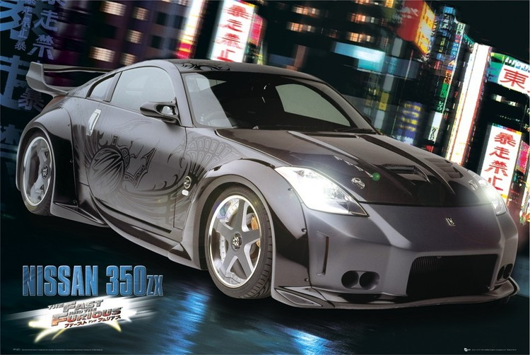 Fast and Furious - Nissan Plakat