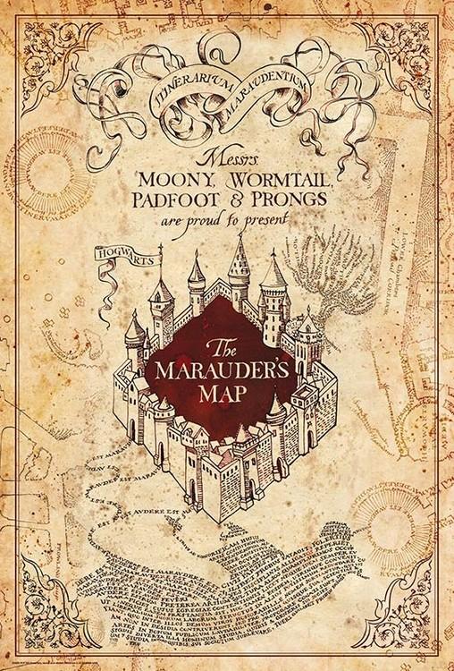 Harry Potter - Maurauder's Map Poster
