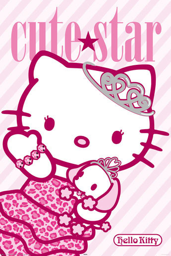 HELLO KITTY - cute star Poster