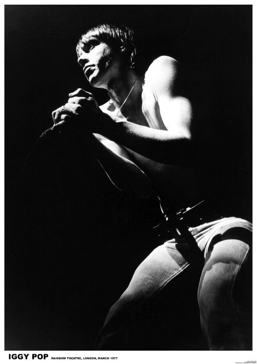 IGGY Pop - London 1977 Poster