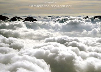 Imagination – clouds Plakat