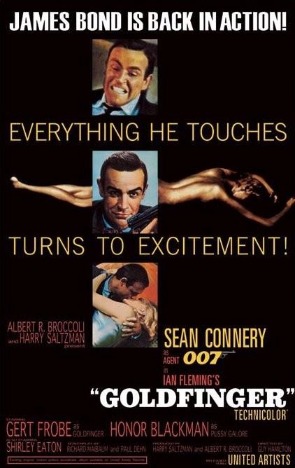 Poster JAMES BOND 007 – goldfinfer-excitement