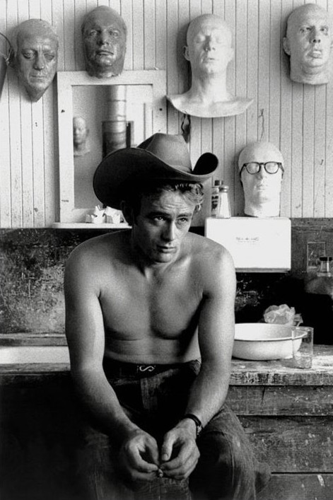 James Dean - topless Plakat