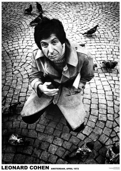 Leonard Cohen - Amsterdam 1972 Poster