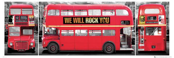 London - bus triptych Plakat