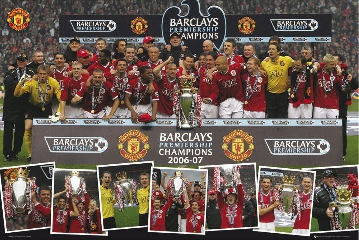 Manchester United - champions 06/07 Plakat